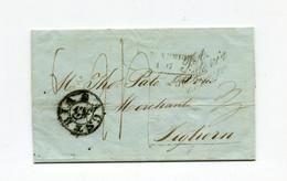 """!!! LETTRE DE CORFOU POUR LIVOURNE DE 1847 MARQUES D'ENTREE """"AUSRIA N°1"""" ET """"TA TRIESTEVIA DI MARE"""" - ...-1861 Prephilately"""