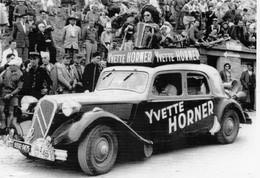 Citroen Traction Avec Publicité 'Yvette Horner' - Tour De France 1955    -  CPM - Turismo