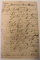 BRIEF 1844  MELDEN   TE LEZEN    2 SCANS - Historical Documents