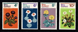 New Zealand 1972 Alpine Plants Set Of 4 MNH - Ongebruikt