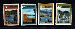 New Zealand 1972 Lakes Set Of 4 MNH - Ongebruikt