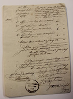 GEMEENTE MELDEN 1827  BESTEK HERSTELLEN STENEN BRUGGE    ZIE AFBEELDINGEN - Historical Documents