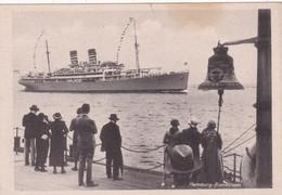 Allemagne : HAMBOURG - Hamburg Blankenese : Bateau Paquebot - Boat - Boot - Liner Et Cloche - Déchirure Haut Centre 5mm - Blankenese