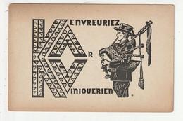 CARTE EN BRETON - KENVREURIEZ .... - Bretagne
