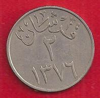 ARABIE SAOUDITE (SAUDI ARABIA) 2 GHIRSH - 1957 - Saudi Arabia