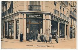 1 CPA + 3 CPA Photo - GRENOBLE (Isère) - La Pharmacie Puy - Grenoble