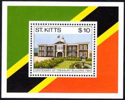 St Kitts 1994 Centenary Of Treasury Building Souvenir Sheet Unmounted Mint. - St.Kitts E Nevis ( 1983-...)