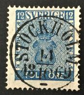 1858 Wappenzeichnung Mi. 9 Mit Zentrisch Stempel STOCKHOLM 1869 - Gebraucht