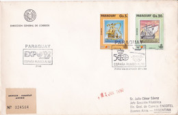 PARAGUAY. EXPO'92, ESPAÑA RUMBO AL 1992. FDC ENVELOPPE, ANNEE 1990.- LILHU - Paraguay