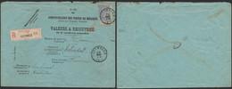 Administration Des Postes - Valeurs à Recouvrer (n°290 B) En R + N°60 Franchise Partielle De Oostmalle > Caen (France) - Documents Of Postal Services
