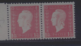 691 A Impression Défectueuse Silhouette Blanche - 1 Normal Livré - Curiosities: 1941-44 Mint/hinged