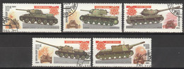 Sowjetunion 5347/51 O Panzer - Used Stamps