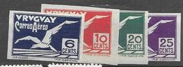 Uruguay Airmail Mh * Set 10 Euros - Uruguay