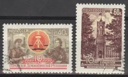 Sowjetunion 2271/72 O 10 Jahre DDR - Usados
