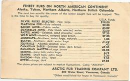 CANADA : FINEST FURS ON NORTH AMERICAN CONTINENT : ARCTIC FUR TRADING COMPANY LTD. - Canada