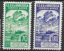Venezuela Mh* Set 4,60 Euros Boat Ship Airplane - Venezuela