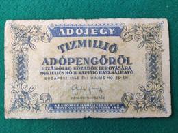 Ungheria 500000 Adopengo 1946 - Ungheria