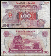 UGANDA BANKNOTE - 100 SHILLINGS (1982) P#19a F (NT#03) - Uganda