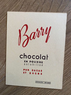 2 BUVARDS BARRY CHOCOLAT - Cocoa & Chocolat