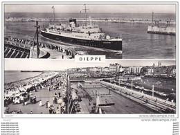 """Cpsm Petit-Form Réf-JP-P-932 (  Dép-76 à DIEPPE )     """" L' ARROMANCHES  """"   Rentre Au Port - Dieppe"""