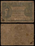 BRITISH MALAYA BANKNOTE - 10 CENTS 1941 P#8 VG (NT#03) - Malaysia