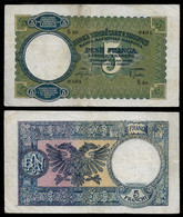 ALBANIA BANKNOTE - 5 FRANGA (1939) P#6a VF (NT#03) - Albania