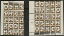 """N° 573 """"Bretagne"""" 2 Panneaux De 25 Et 20 Ex. Avec Coin Daté Du 9/4/43 COTE 36 € Neuf ** (MNH) Voir Description - 1941-66 Wappen"""
