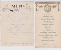 25 – FOURNET BLANCHEROCHE – LOT DE 2 MENUS – DATES Du 19 Septembre 1920 Et Du 21 Janvier 1920. - Menú