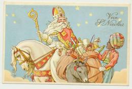 Carte Fantaisie Saint NICOLAS - Enfant Jouets Ane - San Nicolás