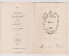25 – CHARQUEMONT – MENU DU 27 JUILLET 1925. - Menú
