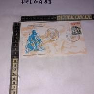 FB6625 FDC ISERNIA 1988 TIMBRO TARGHETTA HOMO AESERNIENSIS GIORNO DI EMISSIONE - F.D.C.