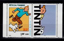 YV 3303b N** Timbre Avec Vignette , Tintin - Nuevos