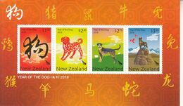 2018 New Zealand Year Of The Dog Souvenir Sheet  MNH @ BELOW FACE VALUE - Unused Stamps