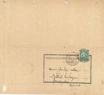 130 Semeuse Lignée 15 C. Vert Bulletin Chemins De Fer Paris à Lyon Et à Marseille Cachet Gare De Dijon 6-5-1924 - Covers & Documents