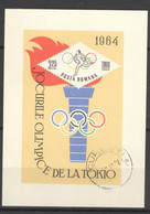 Rumänien Block 58 O Olympia Tokio 1964 - Blocks & Sheetlets