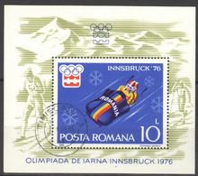 Rumänien Block 128 O Olympia Innsbruck 1976 - Blocks & Sheetlets