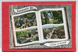 03   .COSNE    D ' ALLIER  ,  Multivues    . Cpsm  10,5 X 15 .(  Pliure  Côté  Gauche  ) . - Other Municipalities