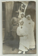 SOLDATO ITALIANO CON CROCEROSSINE 1915 FOTOGRAFICA TENSI  - NV  FP - Otros
