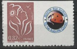 """N° 3802Bb COTE 15 € Marianne De Lamouche Avec Petite Vignette """"Bourse Aux Timbres"""" Neuf ** (MNH) Qualité TB - Personalized Stamps"""