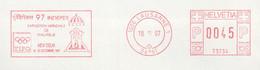 960  Indepex 97 New Delhi, Eléphant: Ema Suisse - Elephant On Meter Stamp From Switzerland. India - Elephants