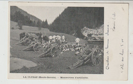Haute Savoie LA CLUSAZ Manœuvres D'artillerie 1903 - La Clusaz