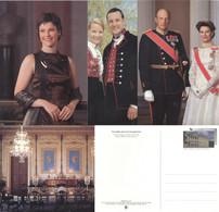 Norwegen Ganzsachenkarten-Set P204/01-04 * Postfrisch - Postal Stationery