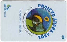 BRASIL F-878 Magnetic BrasilTelecom - Animal, Bird, Parrot - Used - Brasil
