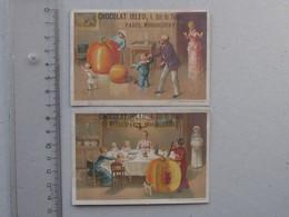 CHROMO Chocolat IBLED: POTIRON GEANT Lot 2 Différents Même Série - Enfant Famille Soupe Servante Repas - VIEILLEMARD - Ibled
