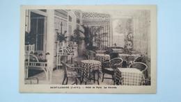 RARE - CPSM CIRCULEE - SANS TIMBRE - SAINT LUNAIRE - HOTEL DE PARIS - LA VERANDA - Saint-Lunaire