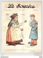 LE SOURIRE-1912- 14-Journal Humoristique-BURRET CARLEGLE REB FALKE HEMARD - 1900 - 1949