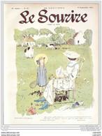 LE SOURIRE-1913- 37-Journal Humoristique-CARLEGLE FALKE SAUVAYRE FLORES - 1900 - 1949