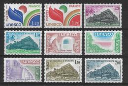 France - Service 9 TP - Unesco & Conseil De L'Europe  Y&T N° 56/57/58/59/60/61/62/63/64 ** Neufs Luxe 1er Choix (TTB). - Neufs