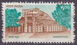 Timbre Oblitéré N° 1224(Yvert) Inde 1994 - Sanchi Stupa - Used Stamps