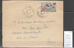 Reunion - Devant De Lettre LE BRULE- Cachet  Pointillé -1954 - Storia Postale